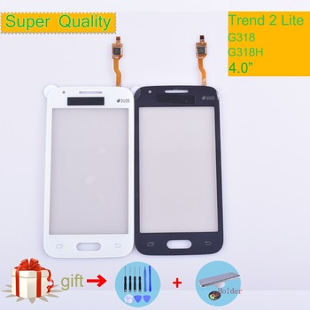 G318 dla Samsung Galaxy Trend 2 Lite SM-G318H G318H G318 dotykowy panel dotykowy Digitizer przednia szklana soczewka ekran dotykowy nie LCD