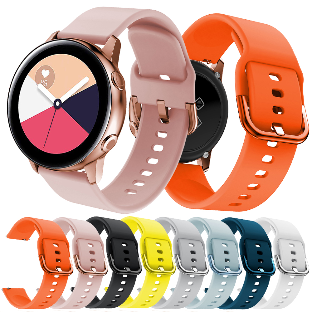 Silicone Watch Strap For Samsung Galaxy Active  Galaxy 42mm Band For Samsung Galaxy Watch Active 20mm S2 Band Sport Huami 20mm