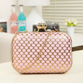 2016 New Mini Bag Women Clutch Bags Ladies Evening Bag for Party Day fashion Polka Dot clutch evening bag PU leather HBF07