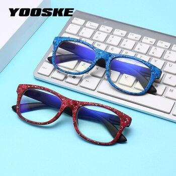 85dd3dca0f YOOSKE Retro Anti-blu-ray gafas de lectura lente transparente luz azul Anti  gafas Anti-fatiga de la vendimia gafas de equipo