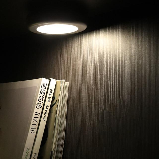 BORUiT PIR Motion Sensor 6 LED Under Cabinet Light Kitchen Bedroom Wireless Magnetic Closet Light Sensor Stair Light Night Lamp