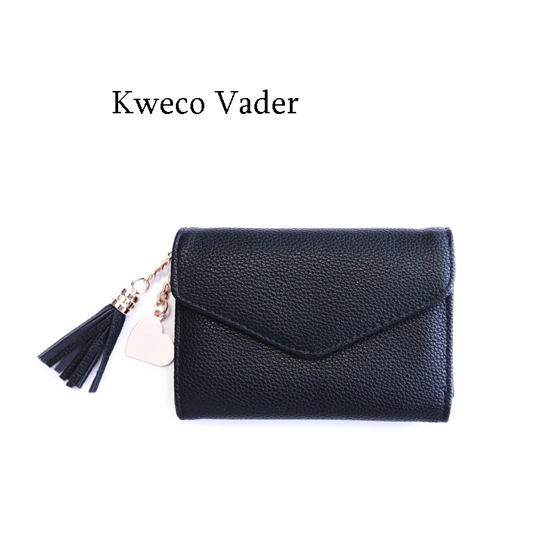 Youth Small Wallets Women 2017 New Arrival Tassel Thin Short Wallet Womens Wallets and Purses Casual Purse Card Holder Mujer