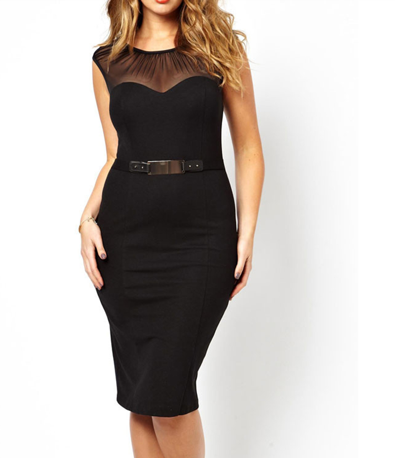 Plus Size Semi Formal Pencil Dress Clearance 2xl In Dresses From