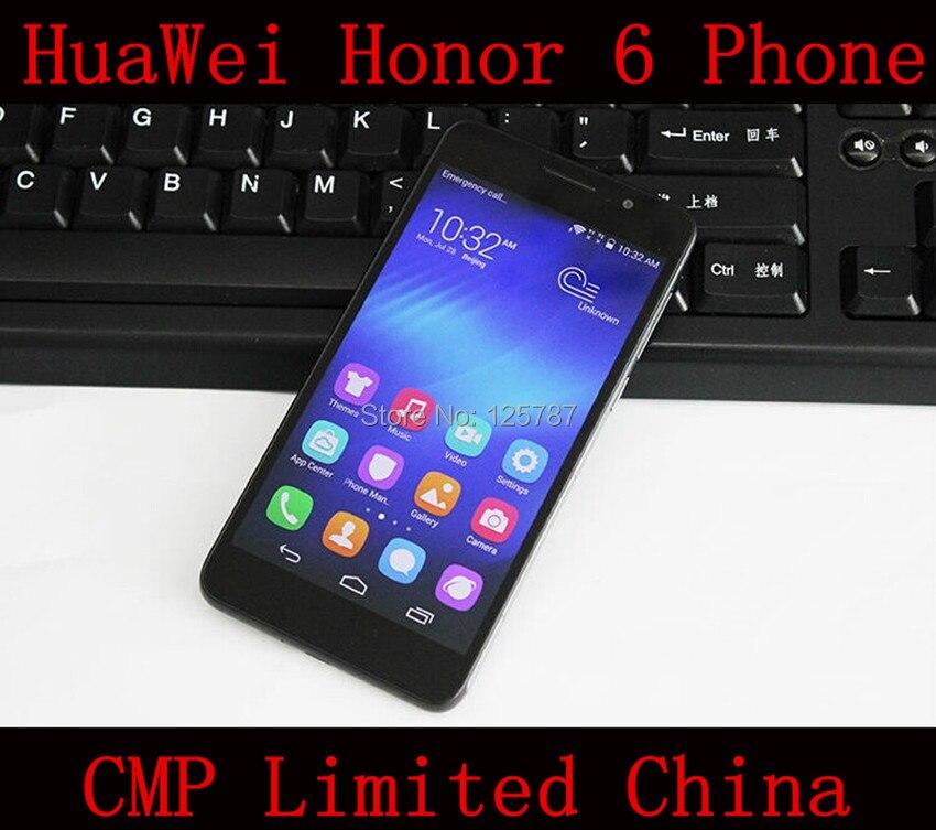 Цена за DHL Быстрая доставка HuaWei Honor 6 4G LTE Сотового Телефона Кирин 920 окта Ядро Android 4.4 OS 5 Дюймов FHD 1920X1080 3 ГБ/32 ГБ ROM 13.0MP