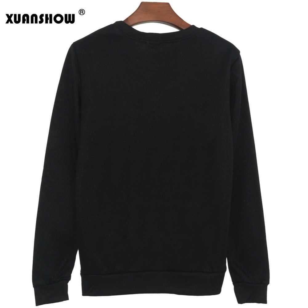 XUANSHOW новая Толстовка KPOP хип-хоп альбом Young Forever топы Модные с длинными рукавами Повседневная с напечатанными буквами женские пуловеры s-xxl