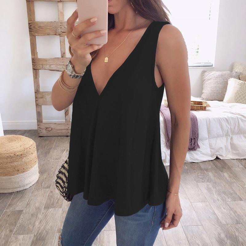 Plus Size 5XL Womens Summer Sleeveless Tops Fashion Chiffon   Blouses     Shirt   Women V-Neck Tops Feminina Blusas WS8508C