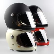 Importowane TT & CO Japoński Thompson motocykla kask kask motocyklowy kask Ghost Rider retro TTD rejs z Obiektywem