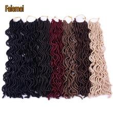 """FALEMEI волнистые искусственные локоны в стиле Crochet волосы 1"""" 24 корня синтетические вязанные косички волосы богемные замки крючком косички наращивание волос"""
