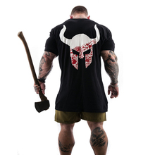 Mens large print Short Sleeve Cotton t-shirt Summer Casual Fashion Gyms Fitness Bodybuilding T shirt Male Tees Tops Clothing