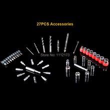 27 UNIDS accesorios para taladros eléctricos y destornillador Eléctrico