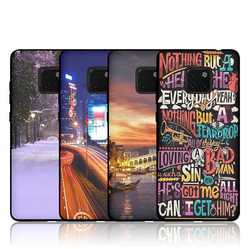JURCHEN Soft Silicone Case For Huawei Mate 20 Pro Case Cartoon Cute Thin Back Cover For Huawei Mate20 Pro 20 X 20X Phone Case