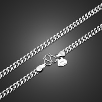 Fashion Men's Silver Necklace Pure 925 Silver Necklace Whip Design Solid Silver Jewelry 46 71cm Size Handsome Men's Necklace