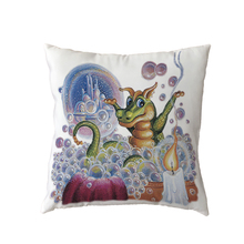 Gifts New Dinosaur Decorative White Pillow Case Vintage Newspaper Printed Home Decor Red Rose Polyester Peach Skin Cushion Cover