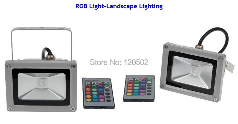 BEST PRICE!! 10W 20W 30W 50W LED Outdoor Floodlight RGB Warm White Cool White with IR Remote Controller 16 Colorful