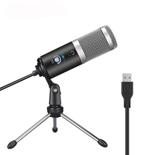 USB Plug and Play Microphone For Computer YouTube Skype Studio Live Broadcasting Music Performance Vocal Recording