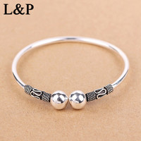 New Arrival Vintage Thai Silver Sterling Silve Bangles Bracelets For Women 100 Sterling Silver Bangle Jewelry