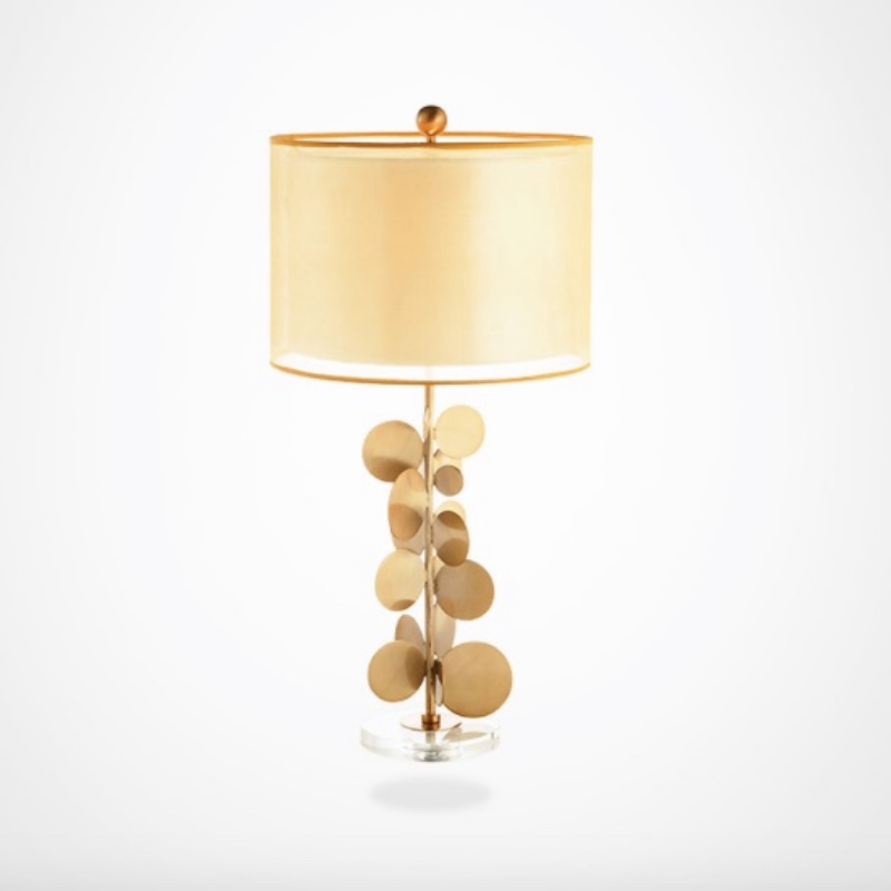 Post-modern Fashion Creative Designer Gold Metal Leaf Fabric E27 Table Lamp for Living Room Bedroom Study Deco Light H 80cm 2194 or fabric camouflage leaf headgear
