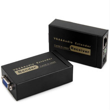 VGA extender 100 meters single network cable transmission to rj45 signal amplifier audio and video synchronization HD 1080p 8 core cable extender signal amplifier extension rj45 network extender 300 meters 600 meters