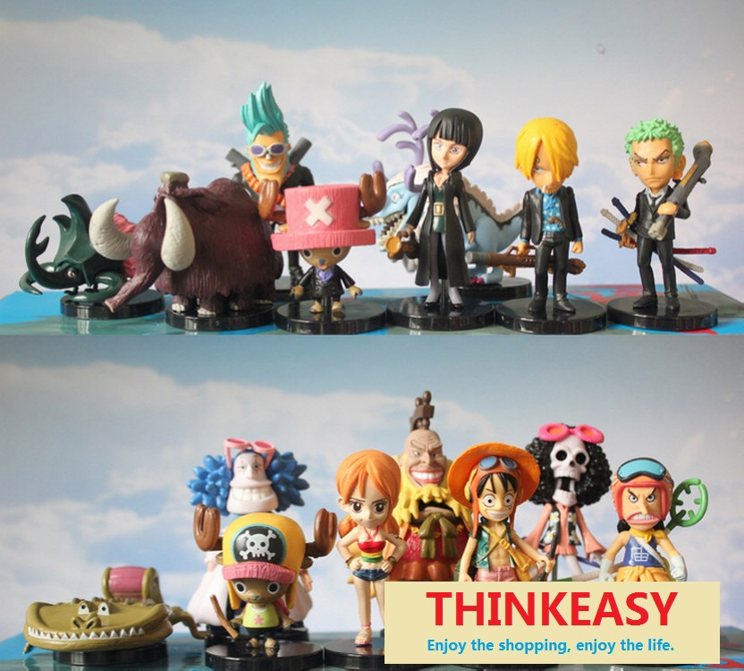 ФОТО 40 pcs/set cartoon one theme piece children toys, suit for 3+ kids, birthday/ Christmas gift figures dolls pokemon luffy set