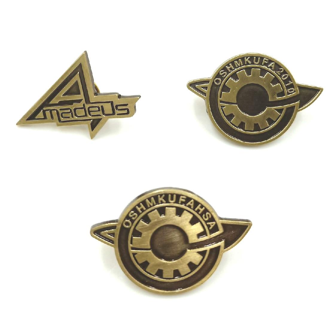 Japanese Steins;Gate Makise Kurisu labmem Lapel Pin Brooch Badge Cosplay Gifts