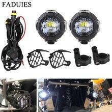 FADUIES 2 шт./компл. Универсальный мотоцикл вспомогательный свет светодиодный автомобилей противотуманные Assemblie Дальнего для BMW R1200GS/ADV/F800GS