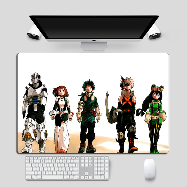 Large 60x40cm XXL My Hero Academia Japan Anime Mousepad  Locking Edge Non-Skid Keyboard Gaming Mouse pad Laptop Desk Mat