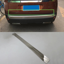 ABS car accessories stainless steel rear door moulding trim 1pcs Car Styling For Peugeot 3008 2017