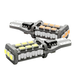 2pcs T15 W16W WY16W 15 Led 2835 Smd Car Tail Bulb Stop Light Auto Reverse Lamp Daytime Running Light Red White Yellow Amber 12V