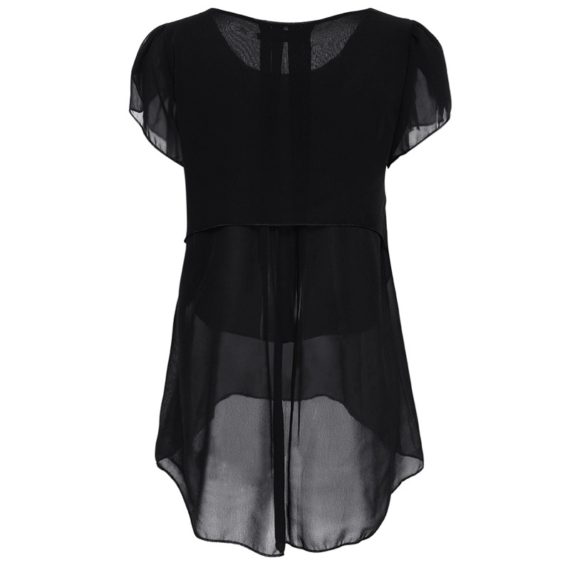 short sleeve chiffon blouse (2)