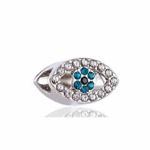 Cristal creux étoile voiture papillon feuille d'érable amour coeur mauvais œil charmes perles Fit Pandora bracelets pour femme bijoux à bricoler soi-même faisant