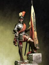 Resin Kits   1/ 24 75mm Hernan Cortes Middle Ages XV 75mm   Resin Not color Model figure DIY TOYS new