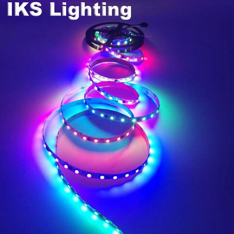 WS2811 sloksnes led lampa 5m ūdensizturīga rgb lente 5050 rgb 30 60 - LED Apgaismojums - Foto 4