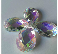 Free Shipping HoT SALE Factory Price 30PCS Lot 38 22MM K9 Optical Clear Crystal Chandelier Parts
