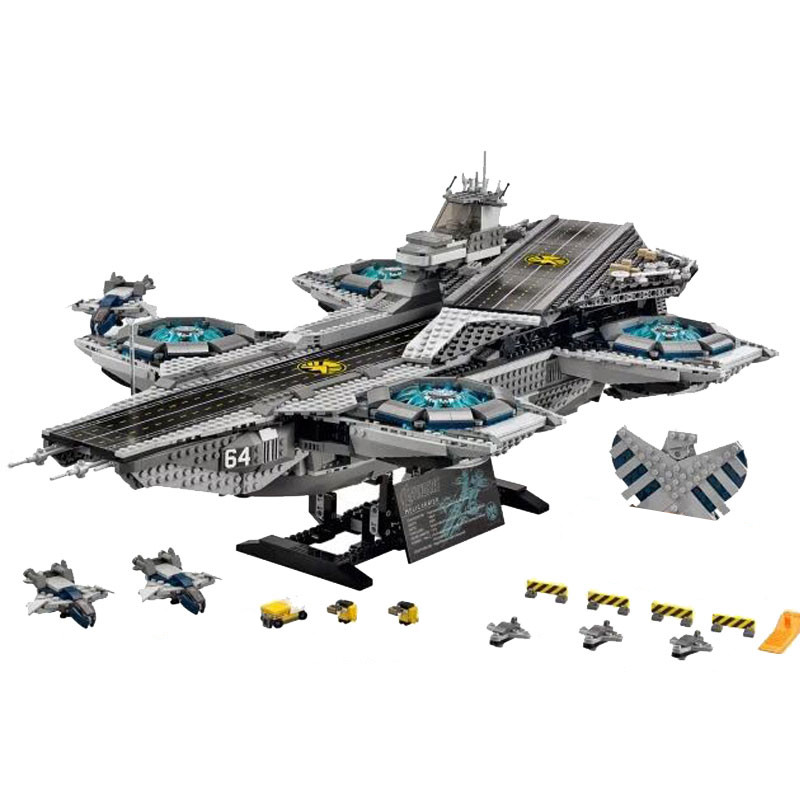 In stock 3057Pcs Mailackers The Shield Helicarrier Marvel Super Heroes Avengers Infinity War Bricks Building Blocks