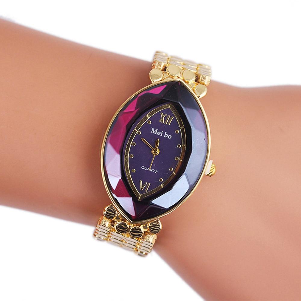 New Women Ladies Watch Luxury Bracelet Watches montre Women Gold Watch Quartz-watch Hour Clock Gift reloje mujer 2017 relogios