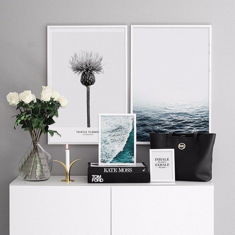 Дерексіз Seascape кенепте суреттер Nordic - Үйдің декоры - фото 2