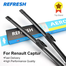 Wiper blade for Renault Captur, 24+13, rubber Bracketless windscreen wiper blades, wiper, blade, Car accessories, 2 pcs/pair