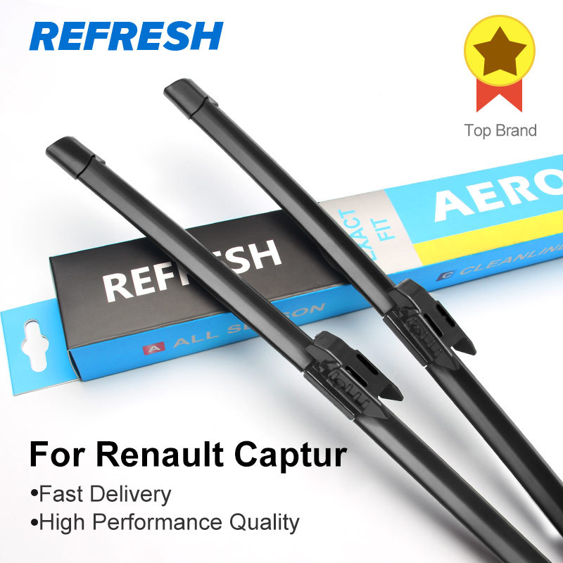 REFRESH Wiper Blades for Renault Captur ( Kaptur ) 26&16 Fit Bayonet Arms / pinch tab arms 2013 2014 2015 2016 2017 2018
