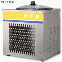 VOSOCO Fried ice cream machine 360W Vice cream roll fry ice pan machine Commercial single pot Stir fried yogurt fruit machine