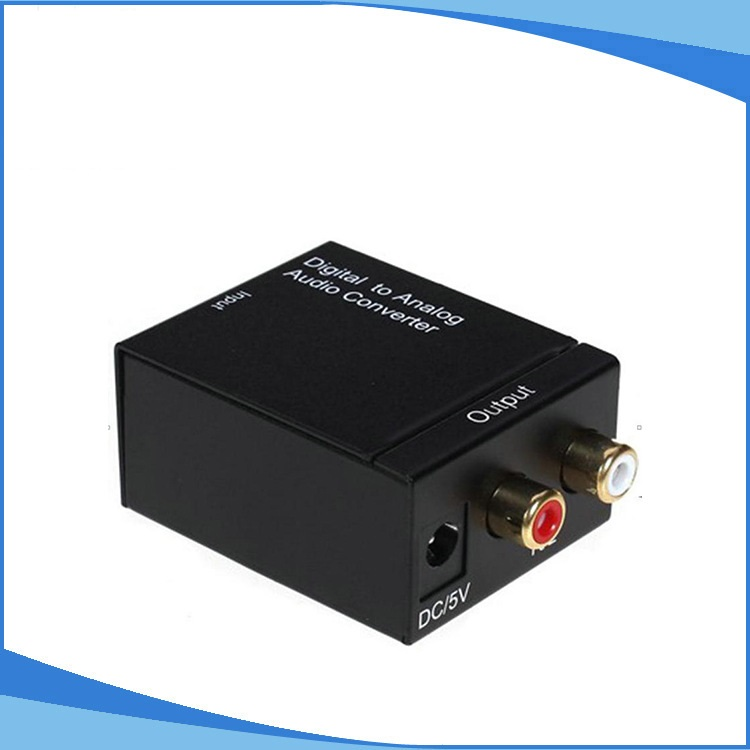 Digital Optical Coaxial Toslink Signal to Analog Audio Converter Adapter digital optical coaxial toslink to analog rca l r audio digital converter adapter dc 5v 1a with usb cable high speed