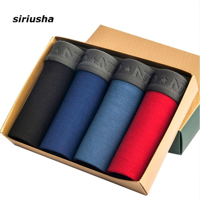 Siriusha installed 4 men's underwear male pants breathable U convex waist home four young boxers head