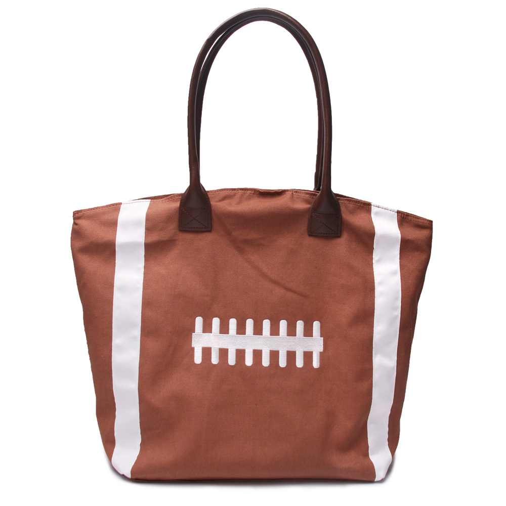 Embroidery Foot-ball Totes Wholesale Large Canvas Tote Brown Purse with  Magnetic Closure Team Accessories Handbag DOM106292 742f900d39988