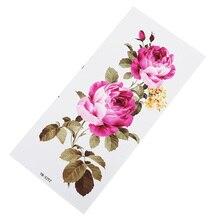 Цветок роза Водонепроницаемый временная татуировка наклейка для взрослых детей боди-арт женский дизайн боди-арт водонепроницаемые временные татуировки