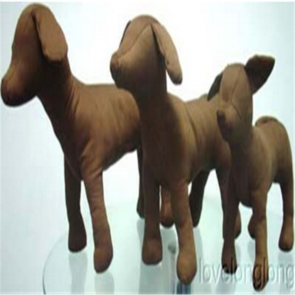 Blackwhite Denim Pet Dogs Mannequin Model Standing Position Dog