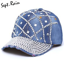 af46e69ee8 Popular Women Baseball Cap Crystal Snapback-Buy Cheap Women Baseball ...