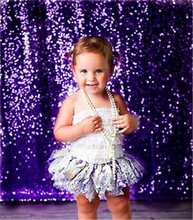 Princesa Roxo Lantejoula Tecido Foto Do Casamento Pano De Fundo Da Foto, Fotografia Fundo, Fundo de Cerimônia, Festa de Aniversário do bebê