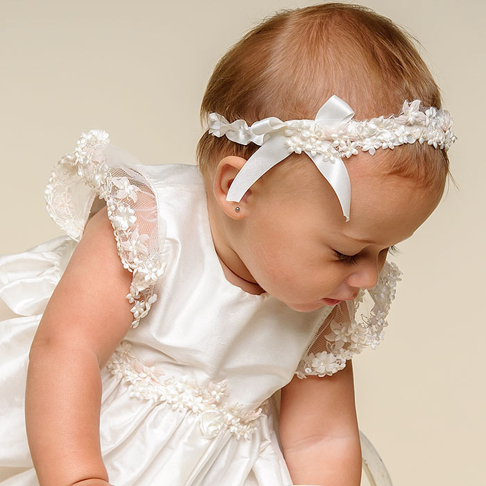 e86b089f0028 BABY WOW White Baby Girl Christening Gowns + Headdress 1 Year Birthday  Dress Elegant for Newborn 2 Years Old Baby Girls 80140-in Dresses from  Mother & Kids ...