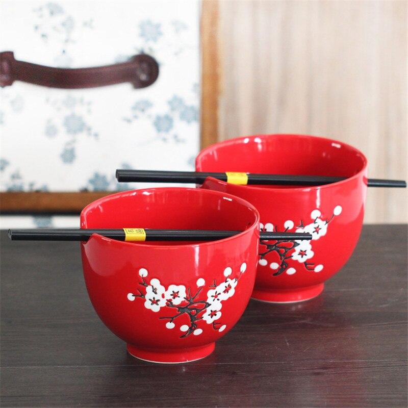 Cadeaux de mariage bol vaisselle chinoise porcelaine riz bol savon bol glaçure rouge céramique porcelaine vaisselle exquis bol