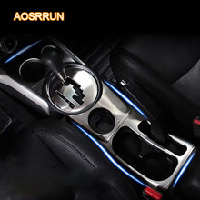 AOSRRUN Stainless steel hand brake panel, water glass, water cup, decorative paste cover Car accessories For Mitsubishi ASX 2018