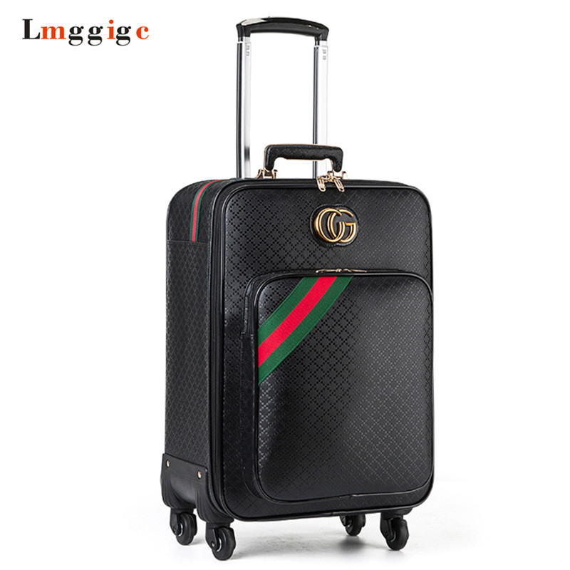 Rolling Luggage bag ,Women Fashion PU Suitcase ,Travel Carry On,Trolley Case with Wheel ,162024 inch Box rolling luggage cabin bag 18 inch suitcase with wheel pu trolley case with lock colorful carry on travel box with laptop bag